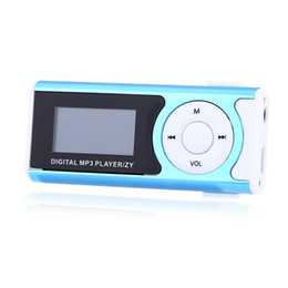 Tragbares Audio & Video Edt-mini Usb Clip Lcd Mp3 Musik-player Mit Led-licht Unterstützung 16 Gb Mikro-sd Tf Schwarz Unterhaltungselektronik