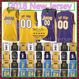 Wholesale balls footballs - 2 Lonzo Ball 24 Kobe Bryant Jersey 2018 New 23 14 Brandon Ingram 0 Kyle Kuzma Basketball Jerseys Cheap sales