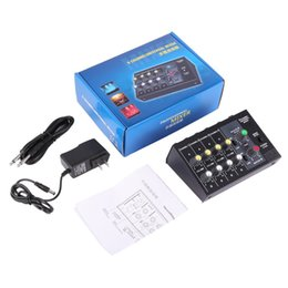 Wholesale Mixer Channel - 8 Channel Digital Mixing Console Karaoke Universal Mixer Console Mono Stereo Microphone Mixer Console Adjusting Panel Free Ship