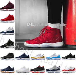 Wholesale Usa Patents - NEW 11 SPACE JAM Men Womens Basketball Shoes 11S AA High Quality Size USA 5.5 13 Wholesale Sneakers Drop Free Shipping US 5.5-13 Eur 36-47