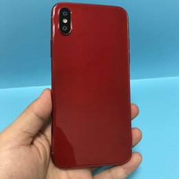 Wholesale Touch Screen Mp3 Wholesale - Green Tag Sealed Red Color Goophone X Quad Core MTK6580 1.3GHz 5.5 inch 1280*640 HD 8MP 3G WCDMA Show 64GB 256GB Smartphone