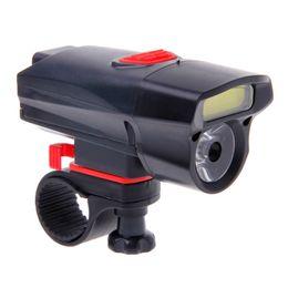 Сигнальная лампа аккумуляторная батарея онлайн-Waterproof Bicycle Front Light Safety 300LM Cycling Warning Lamp COB Headlight 3 x Batteries(without batteries)