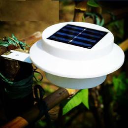 luz de la cerca del canal solar Rebajas Al aire libre con energía solar Foco de luz LED Techo Canaleta Jardín Patio Lámpara de pared Luces de ahorro de energía LED con energía solar LJJM41