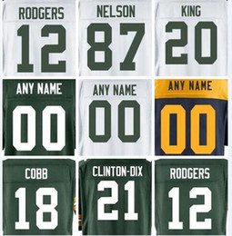 2019 Mens jersey Aaron Rodgers Davante Adams Randall Cobb Custom Green Bay  Packer color rush american womens football kids jersey elite 5xl b63c25855