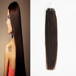 микро-петля виргинские человеческие волосы расширений Скидка Unprocessed Виргинские бразильские прямые волосы микро-выдвижения волос кольца петли выдвижения волос 100g микро-выдвижения волос соединения человека