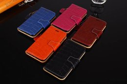 Wholesale Iphone Crocodile Leather - New luxury Brand Crocodile Genuine Leather Wallet case for iPhone X 8plus 7 6 6S Plus Back Cover For GalaxyS8 S9 Plus Note8