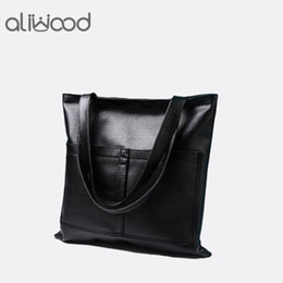 shoulder bag minimalist Promo Codes - tote bag 2018 New Women's Handbags High-Quality European And American Vintage Minimalist High-Capacity Tote Bag Pu Leather Shoulder Bags