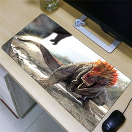 dragon dinosaurs Coupons - FFFAS 80x40cm Large Size Mouse Pad Dinosaur Jurassic Period Tyrannosaurus Rex Dragon Fashion Mousepad Super Desk Mat Tablet PC