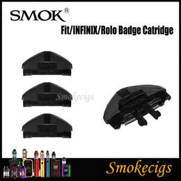 Kit d'insignes 100% d'origine Smok Fit Infinix Rolo Catridge Atomizer Pod 2ML Interrupteur à commande par air facile à insérer pour une évacuation facile ? partir de fabricateur