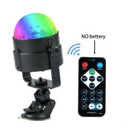 Wholesale Disco Usb - IR Remote RGB LED Crystal Magic Rotating Ball Stage Light 4m USB 5V Colorful Ktv DJ Light Disco Party Effect