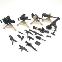 Wholesale Toy Military Soldiers - DIY WW2 Army Military SWAT weapon Guns Mini Soldiers Figures Building Blocks Brick Figures Model Toys for Children