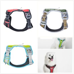 Wholesale basic pcs - 5 pcs Soft Adjustable Dog Harness Vest Collar Big Dog Rope Collar Hand Strap Pet Traction Rope for Small Medium Large Dogs