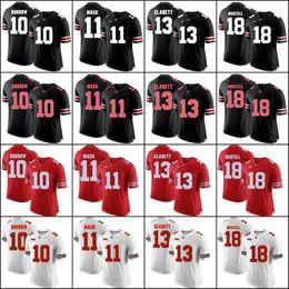 Custom 2018 Ohio State Buckeyes White Gray Black Camo Jersey Haskins Jr.  George Dobbins Red OSU College Football Stitched Any Number Name c651ec563