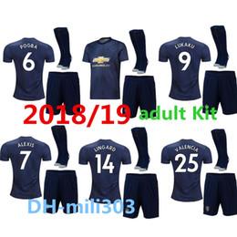 Wholesale premier league football shirts - 2018 2019 Premier league ALEXIS soccer jerseys 18 19 LUKAKU POGBA RASHFORD United football shirt BLUE MAILLOT DE FOOT men uniforms