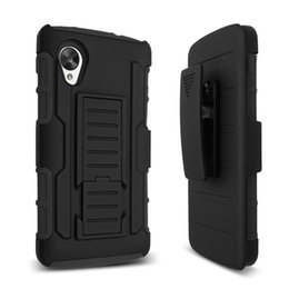 Wholesale Optimus Cover - Black Hybrid Heavy Duty Rugged Armor Defender Cases Robot Shockproof Kickstand Silicone PC Cover For LG Optimus F6 D500 MS500 Volt LS740 F90