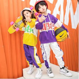fc4c9b705153 Kids Ballroom Hoodie jogger Pants dancing Stage Outfit Girls Competitions  Modern Jazz Hip Hop dance wear Clothing Street wear