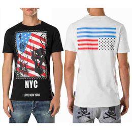 Wholesale Mens Flag T Shirt - Diamonds Mens Tshirts American Flag NYC Print Casual T-Shirt Slim Short Sleeve Sport Polo shirt Black white Tee SHIRT ROUND NECK SS SMITH