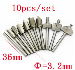 Wholesale Milling Machine For Wood - 10PCS Burr Drill Bit Set High Speed Wood Carving Rasps Shank Burs Steel Abrasive Tool Milling Cutter For Dremel Machine Tools Accessories
