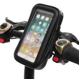 Evrensel Bisiklet Çantası Pinners Motosiklet MTB Bisiklet Telefon Tutucu Smartphone Için Su Geçirmez Çanta Case Gidon Montaj Tutucu cheap waterproof bicycle phone holder nereden su geçirmez bisiklet telefonu tutacağı tedarikçiler