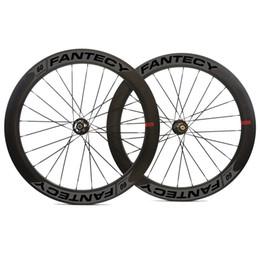Wholesale Tubular Disc Cyclocross Wheels - 700C 60mm depth 25mm width disc brake road carbon wheels clincher Tubular Disc Cyclocross carbon wheelset with Novatec hub