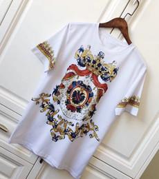 Canada 2018 printemps été nouvelle marque de luxe de haute qualité hommes impérial impression de la couronne t-shirt marque designer t-shirts à manches courtes hommes t-shirt marque cheap imperial brands Offre