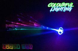 fiação de fibra óptica Desconto LED Trançado New Fashion Flash De Fibra Óptica Fio Colorido Cocar Festa de Aniversário de Dança de Concerto Atacado menina toy kid presente