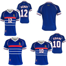 1998 world cup FRANCE retro soccer jerseys home 1998 zidane Henry Soccer  Jerseysp FRANCE retro football shirts e64a41bfd