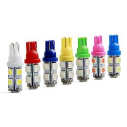Wholesale 12 Dc Led Lighting - T10 LED Bulb 9SMD Car Light Led 194 168 192 W5W Led 12 V Car Styling For Car Lights White 12V DC