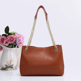 Wholesale China Fashion Handbags - 2018 New arrival fashion bags famous brand high replicas women designer handbags chains totes bags shoulder bags China made brown