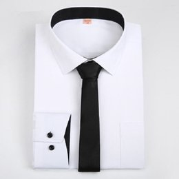 Wholesale Low Collar White Dress Shirt - 2017 New Arrival Design Men Long Sleeve Slim Fit Dress Shirts Formal Work Low Price Male Casual Career Work Shirts