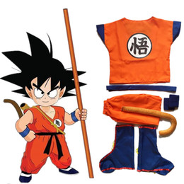 Argentina Dragonball Dragon Ball Z Niños Son Goku Master Roshi Camisas Pantalones Chaqueta Cosplay Disfraz Halloween Kongfu Traje Para Niños Disfraces Suministro