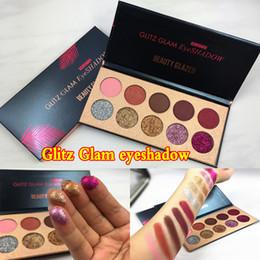 Wholesale Glitz Wholesaler - 2018 Factory direct beauty glazed 10 color Beauty Glazed Glitz Glam Shimmer Luminous Eye shadow Pigment shadows DHL Free + gift