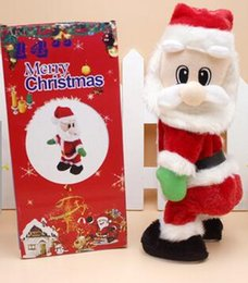 Wholesale Christmas Electric Santa - Christmas electric Santa Claus toys dynamic shaking music electric doll toys Christmas decorations gifts