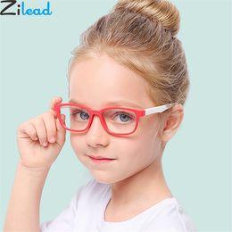 Zilead 2018New Baby Anti-blue Light Silicone Glasses  Children Soft Frame Goggle Plain Glasses Kids Eye Fame Eywear Fashion от