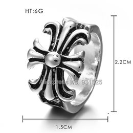 Wholesale wholesale guys jewelry - Fashion Tough Guy Open Ring Gothic Punk Style Biker Zinc Metal Alloy Cross Ring Jewelry for Woman Man Rings free shipping