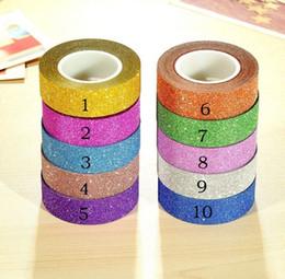 2019 carta adesiva glitter Etichetta adesiva adesiva per etichette adesive da 10 m con glitter e carta adesiva decorativa sconti carta adesiva glitter