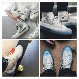 Wholesale Best Eur - 2018 Chuck Taylors off Stars Malden Canvas Shoes for Men Women Best quality Whites Ice Blue 1917 Running Shoe Casual Sneakers All EUR 36-45