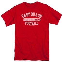 T-shirt rouge en forme d'arche de football de Friday Night Lights East Dillion Lions ? partir de fabricateur