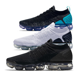 Wholesale womens size 11 shoes - 2018 New Vapormax 2.0 Mens Running Shoes Black White Hot Punch TRIPLE WHITE womens Sneakers Athletic trainers Sport Shoe size 5.5-11