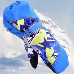 нейлоновые водонепроницаемые перчатки Скидка 1 Pair Children Winter Warm Ski Gloves Waterproof Windproof Mittens Winter Ski Gloves Snowboard Anti-skid Nylon 2 color