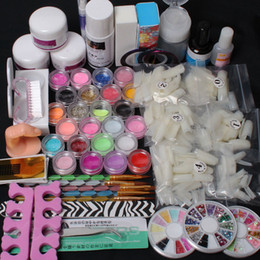 Grosses soldes !!!! DIY Nail Art 500 pcs Demi Nail Tips Acrylic Liquid Powder Pump Tool Set # 13 ? partir de fabricateur