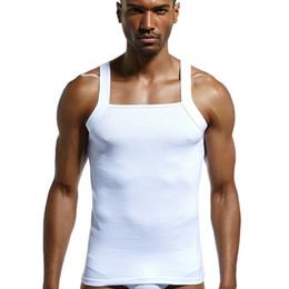 56a6fda497b Wholesale Free Shipping Cotton Mens Vest Fashion Tank Tops Comfortable T  Shirts Bodysuit Fitness Clothing Bodybuilding Summer Undershirt
