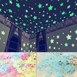 Wholesale Modern Kids Bedroom Set - Newest 100pcs Set Stars Wall Stickers Decal Glow In The Dark Baby Kids Bedroom Home Decor Color Luminous Fluorescent Wall Stickers Decal