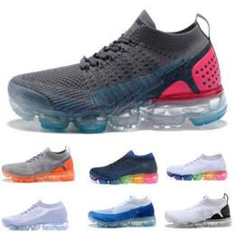 Wholesale Falling Reverse - Vapormaxs 2 Running Shoes Mens Women Black Reverse Orca Triple Pure Platinum True 1 Tennis Training Spring Zapatos Run Sport Shoe Sneakers