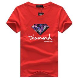 vestiti di diamanti Sconti 2018 Casual Mens T Shirt Skateboard Marca Abbigliamento Moda manica corta T Shirt Diamond Letter Stampato New Summer Cotton Uomo Streetwear