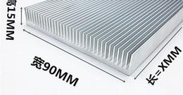 Wholesale Bar Radiators - Fast Free Ship High-power aluminum heat sink Dense tooth radiator 90*15*100MM electronic cooling plate aluminum bar