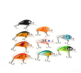 fischen lockt lippen Rabatt 4.5cm 4g Mini-transparente Plastikfischen-Köder-Köder Minnow Crankbaits 3D Eye Künstliche Köder 9 Farben pro Set 2508038