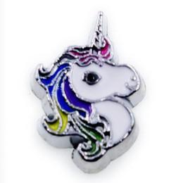 Encantos de unicornio online-El unicornio más nuevo encanto flotante para la vida flotante Locket de la moda accesorios de bricolaje como regalo de amigos de los niños