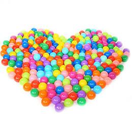 100 шт. / Лот Красочные Прочный Забавный Мяч Мягкий Пластиковый Воды Бассейн Океан Мяч Детские Игрушки Плавать Яма от