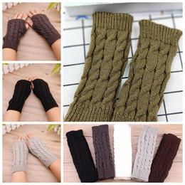 Armstulpen Damen-accessoires Mädchen Arm Winter Handschuhe Lange Geschenk Warme Fingerless Für Frauen Schnee Muster Stricken